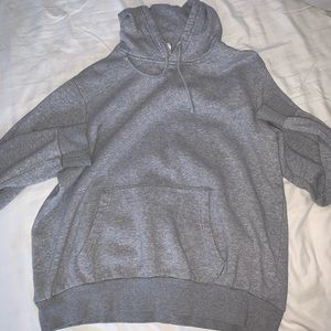 A gray hoodie